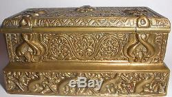 Antique Tiffany Studios Venetian Pattern Bronze Stamp Box 1645