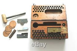 Antique WW1 U. S. Army Field Metal Stamping Dog Tag Mess Kit Punch Set WW2