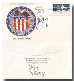 Apollo 16 insurance cover handsigned John Young ex Young