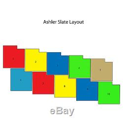 Ashler Notched Slate Concrete Stamp Set by Walttools 15 pc
