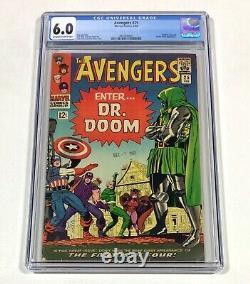 Avengers #25 CGC 6.0 KEY! Date Stamp! (Doctor Doom, Fantastic Four!) 1966 Marvel