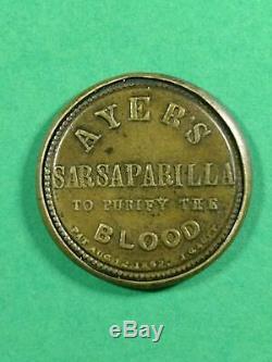 Ayer's Sarsaparilla 10 Cent Encased Postage Stamp HB-36 EP-98a S-17