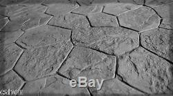 BC Random Stone 5 pc. Compatible Concrete Stamp Set by Walttools
