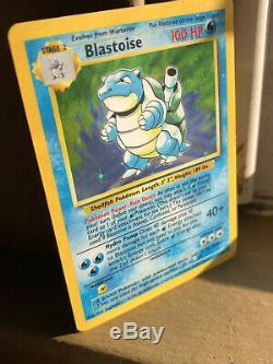 BGS 9.5 GEM MINT Pokemon Blastoise 1st Edition Base Holo Shadowless Thick Stamp