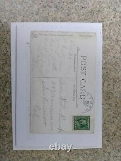 Benjamin Franklin Green One Cent Stamp on a 1911 Postcard