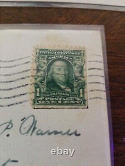 Benjamin Franklin Stamp RARE ANTIQUE 1907 1 CENT STAMP 100% AUTHENTIC