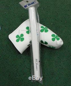 Black Lab Golf Milled BL-1 Putter Black Ox Hand Stamped Clovers Green White 355g
