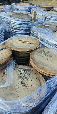 Bourbon Whiskey Barrel Top LAZY SUSAN Authentic distillery stamp. Food Safe