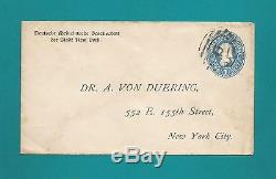 Briefumschlag-USA-27. Sept. 1894-von Deutsche Medicinische Gesellschaft New York