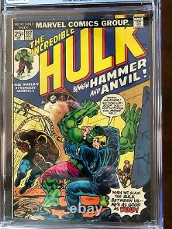 CGC 4.5 HULK 182, Wolverine Panel from 1st app in 181, Marvel Value Stamp intact