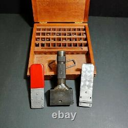 CH Hanson & Numberball Steel Stamp Holder with Characters USA Made Machinist Tool