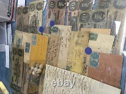 CIVIL War Confederate/csa Lot(12 Items) Currency+stamps+bond+bullets+covers(d20)