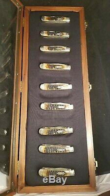 COMPLETE SET 1997 CASE XX 6254 SS TRAPPER KNIFE TANG STAMP COLLECTION 1 of 1000