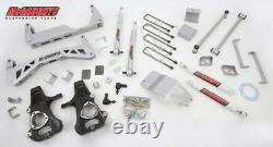 Chevy Silverado 1500 4WD 7-9 Lift Kit 2014-18 Stamped STEEL A ARMS McGaughys