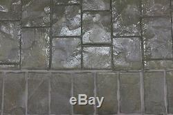 Concrete Border Stamp Roller Set Decorative Cut Slate, Brick-Shaped Walttools