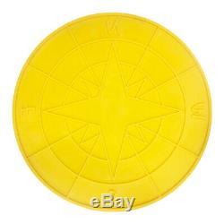 Concrete Stamp Directional Compass Star Walttools Circle Centerpiece (3 ft)