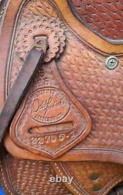 Dale Fredericks Wade Tree Ranch/Roping Saddle Basket Stamp 15.5 Seat
