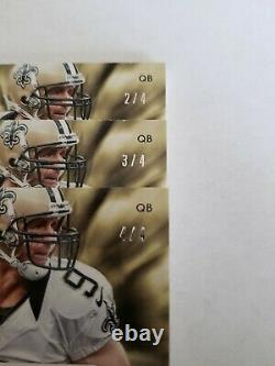 Drew Brees 2013 National Treasures Captain Patch LOT$$$ 3 Cards! Breast