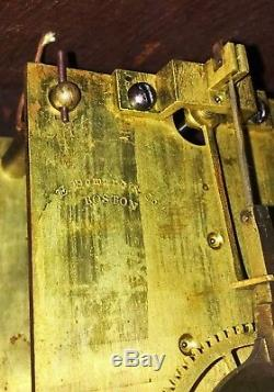 E HOWARD & CO. Boston BANJO Clock #3 Regulator stamped #32 c1870 NICE