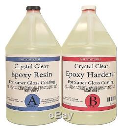 EPOXY RESIN 4 Gal kit CRYSTAL CLEAR, Super Gloss Coating and Table Tops