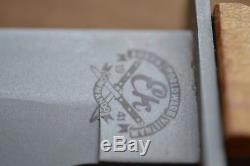 Ek combat knife wood handle stamped U. S. Subdued Bowie-style blade withsheath