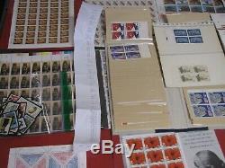 Estate Stamp Collection Huge $1526 Face Value Us Postage Stamps Sheets Blocks