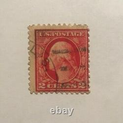 Four different postage stamps RED George Washington 2 cents