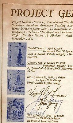 Gemini 8X11 card signed by 7 astronauts & Director (PRICE REDUCED)