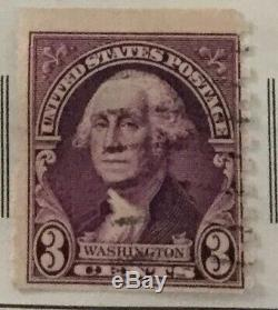 George Washington 3 cent stamp dark red USA oldHistory