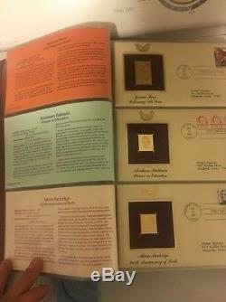 Golden Replicas Of 54 Untied States Stamps. Mint Condition