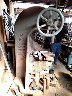 Greenerd No. 7 Arbor Press Stamping Forging Smithing Forming