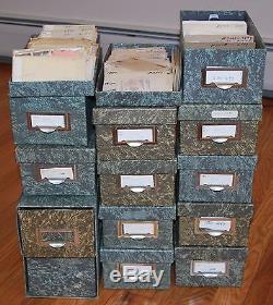 Huge Used Stamp Dealers Accumulation 57,000 Stamps Sorted In 2900 Glassines