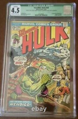 HULK 180 CGC 4.5 Qualified missing Value Stamp Off White to White Pages