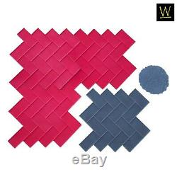 Herringbone Paver Concrete Stamp Set by Walttools (5 pc.)