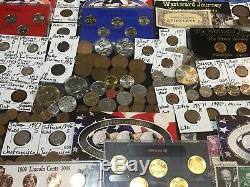Huge Lot 350+ Coins/StampsSilver Note Mercury/Buffalo/Indian/1892/Proof/World+