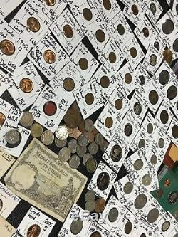 Huge Lot 400+Coin/Stamp/Silver1893MercuryBuffalo/IndianProofVictorian Cents