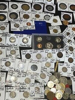 Huge Lot 400+Coin/Stamp1893/Buffalo/Indian/SilverWWII/Mercury/Walking/Standing