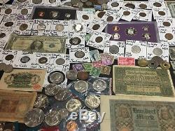 Huge Lot 400+ Coin/StampSilver/Mercury/Buffalo/Barber/1893/Indian/2 Cent Piece+