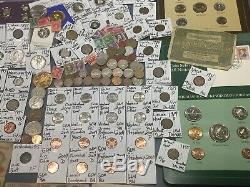 Huge Lot 450+Coin/StampNotes/Mercury/Buffalo/Indian/1893/Liberty/WL/Silver+More
