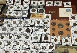 Huge Lot 450+Coin/StampSilver Certificate/Mercury/Buffalo/Indian/1893USA/World