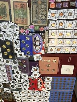 Huge Lot 450+Coin$/StampSilver Note/Mercury/Buffalo & V 5C/Indian/TWO CENT/JFK+