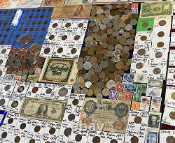 Huge Lot 500+ Coin/Stamp/MedalSilver Note/WL/Mercury/Buffalo/JFK/IKE/Indian/V