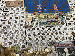 Huge Lot 500 Coin/Stamp-Silver Note/Indian/Mercury/Buffalo/Proof/JFK/Error/WWII+
