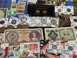 Huge Lot 500+Coin/StampSilver Half/Mercury/Buffalo/Indian/1893/Proof/V/World+