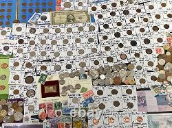 Huge Lot 500 Coin/StampSilver Note/Indian/V/Buffalo/WL/Proof/JFK/IKE/Mercury+