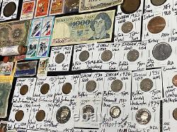 Huge Lot 500+ Coins/Stamp$Silver Note/JFK/Mercury/IKE/Buffalo/Indian/WL/Proof$+