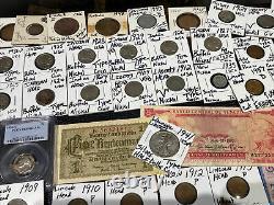 Huge Lot 500+ Coins/StampSilver Note$/Walking Half/PCGS/Mercury/Buffalo/Indian+