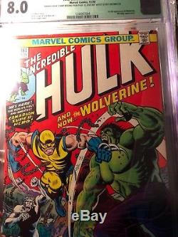 INCREDIBLE HULK 181 CGC 8.0 wolverines 1st appearance (QUALIFIED missing stamp)