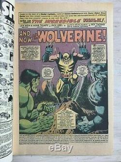 Incredible Hulk #181 1st App. Wolverine WithMarvel stamp & #180 available