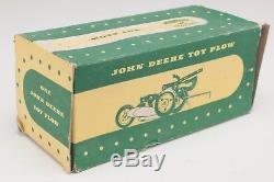 John Deere Toy 2 Bottom Plow 1950 Vintage with Box Ertl Carter Eska Stamped Steel